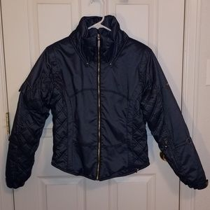 NILS Quilted Metallic Denim Ski Jacket 6